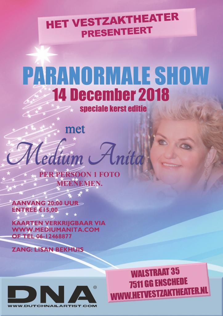 Paranormale Kerstshow Enschede Medium Anita